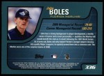 2001 Topps #336  John Boles  Back Thumbnail