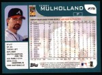2001 Topps #276  Terry Mulholland  Back Thumbnail