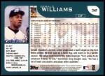 2001 Topps #52  Gerald Williams  Back Thumbnail
