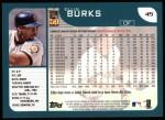 2001 Topps #45  Ellis Burks  Back Thumbnail