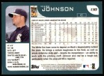 2001 Topps #130  Mark Johnson  Back Thumbnail