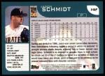 2001 Topps #142  Jason Schmidt  Back Thumbnail