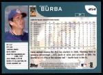 2001 Topps #454   Dave Burba Back Thumbnail