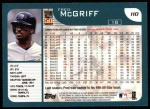 2001 Topps #110   Fred McGriff Back Thumbnail