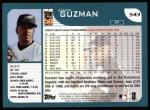 2001 Topps #543  Juan Guzman  Back Thumbnail