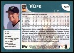 2001 Topps #547  Ryan Rupe  Back Thumbnail