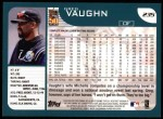 2001 Topps #235  Greg Vaughn  Back Thumbnail
