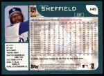2001 Topps #145   Gary Sheffield Back Thumbnail