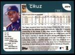 2001 Topps #224  Deivi Cruz  Back Thumbnail