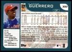 2001 Topps #300  Vladimir Guerrero  Back Thumbnail