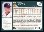 2001 Topps #24  Derek Lowe  Back Thumbnail
