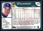 2001 Topps #266   Terry Shumpert Back Thumbnail
