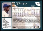 2001 Topps #457   Tony Batista Back Thumbnail
