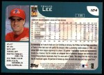 2001 Topps #124  Travis Lee  Back Thumbnail