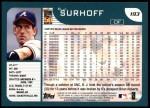 2001 Topps #193  B.J. Surhoff  Back Thumbnail