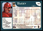 2001 Topps #194   Rob Ducey Back Thumbnail