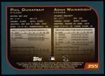 2001 Topps #355   Phil Dumatrait / Adam Wainwright Back Thumbnail