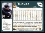 2001 Topps #240   Frank Thomas Back Thumbnail
