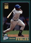 2001 Topps #184  Carlos Febles  Front Thumbnail