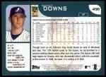 2001 Topps #496  Scott Downs  Back Thumbnail