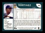 2001 Topps #60   Pedro Martinez Back Thumbnail