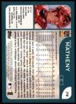 2001 Topps #74   Mike Matheny Back Thumbnail