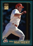 2001 Topps #74  Mike Matheny  Front Thumbnail