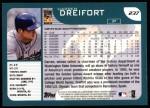 2001 Topps #237  Darren Dreifort  Back Thumbnail