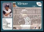 2001 Topps #449   Mark Kotsay Back Thumbnail