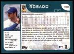 2001 Topps #430  Jose Rosado  Back Thumbnail