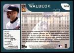 2001 Topps #309  Matt Walbeck  Back Thumbnail