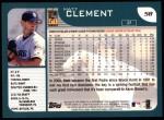 2001 Topps #58  Matt Clement  Back Thumbnail