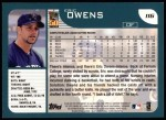 2001 Topps #116   Eric Owens Back Thumbnail