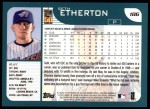 2001 Topps #186  Seth Etherton  Back Thumbnail