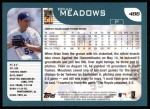 2001 Topps #486   Brian Meadows Back Thumbnail