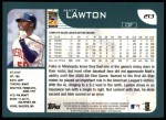 2001 Topps #213  Matt Lawton  Back Thumbnail
