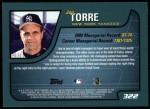 2001 Topps #322  Joe Torre  Back Thumbnail