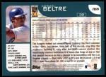 2001 Topps #166   Adrian Beltre Back Thumbnail