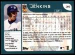 2001 Topps #315   Geoff Jenkins Back Thumbnail