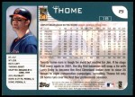 2001 Topps #15  Jim Thome  Back Thumbnail