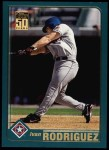 2001 Topps #150   Ivan Rodriguez Front Thumbnail