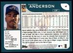 2001 Topps #4   Garret Anderson Back Thumbnail