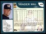 2001 Topps #488  John Vander Wal  Back Thumbnail