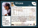 2001 Topps #718   Mike Myers Back Thumbnail