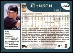 2001 Topps #264   Mark Johnson Back Thumbnail