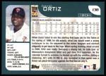 2001 Topps #136  David Ortiz  Back Thumbnail