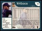 2001 Topps #56  Arthur Rhodes  Back Thumbnail