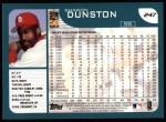 2001 Topps #247   Shawon Dunston Back Thumbnail