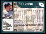 2001 Topps #14   Mike Redmond Back Thumbnail