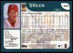 2001 Topps #215   Rusty Greer Back Thumbnail